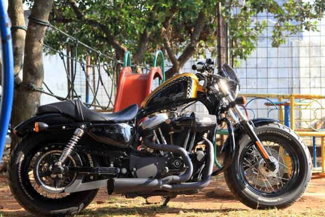 Harley-Davidson Sporster Forty Eight  featuring  Scorpio, Ajat Custom 99 And The Team