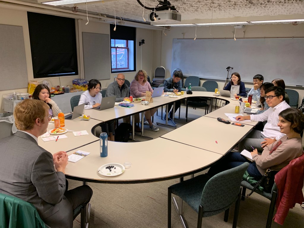 IDD&E students attending a Brown Bag session in September 2019