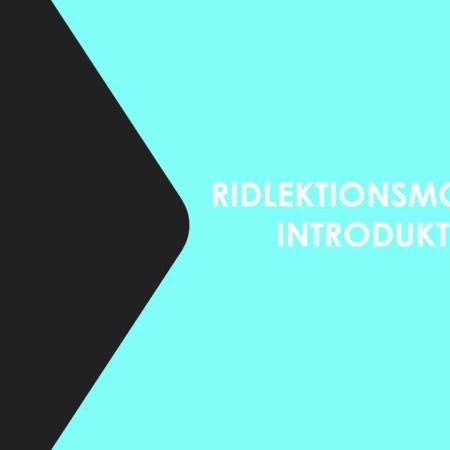 Introduktion till ridlektionsmodellen