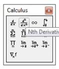 Fasilitas Mathcad Calculus