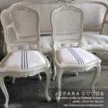 painted white,kursi duco jepara,kursi warna shabby chic jepara,produsen furniture shabby chic jepara,dining chair jepara goods