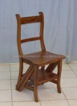library chair step,jual kursi perpustakaan,kursi tangga,model kursi tangga,kursi multi fungsi,jenis kursi jepara,kursi lipat tangga,furniture jati jepara,kursi tangga unik
