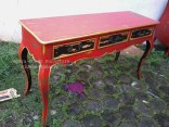 lock art shabby,distressed table,console table,antique repro,mahogany,furniture vintage,retro,bandung,jakarta,bogor,red chic,french furniture