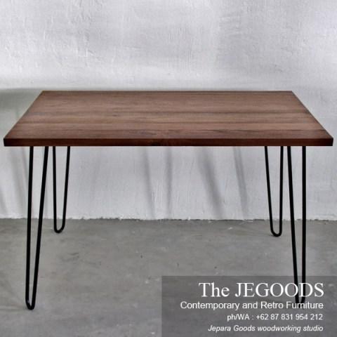 Meja Kayu Kaki Besi Industrial Furniture Jepara Goods