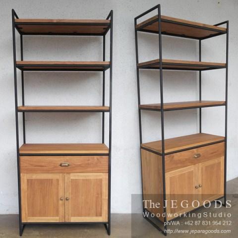 Model Design Industrial Vintage Kayu Besi Metal Furniture