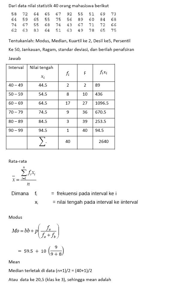 Contoh Soal Dan Pembahasan Statistika Kelas 12 : contoh, pembahasan, statistika, kelas, Jawaban, Statistika, IlmuSosial.id