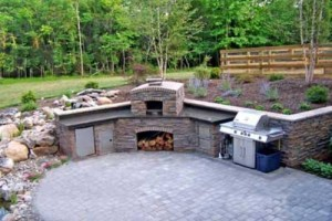 outdoor kitchen pizza oven design cement tile choosing the right patio for your oklahoma ...
