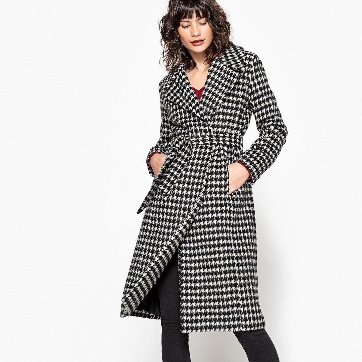 Manteau Femme Gris Et Noir   Manteaux Pour Femme Automne Hiver 2018 ... 24e0b21c9d45