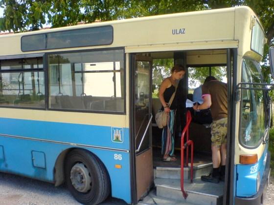 Met de bus naar het centrum van Zagreb