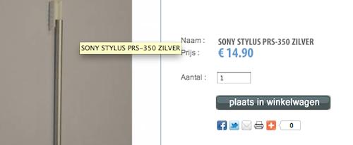De prijs van een styles bij Sony