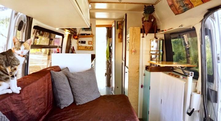 DIY sprinter motorhome living room