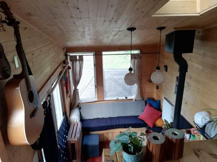 tiny house loft view