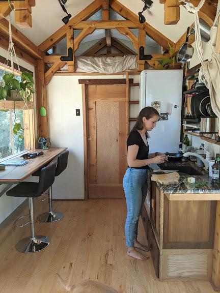DIY tiny house kitchen