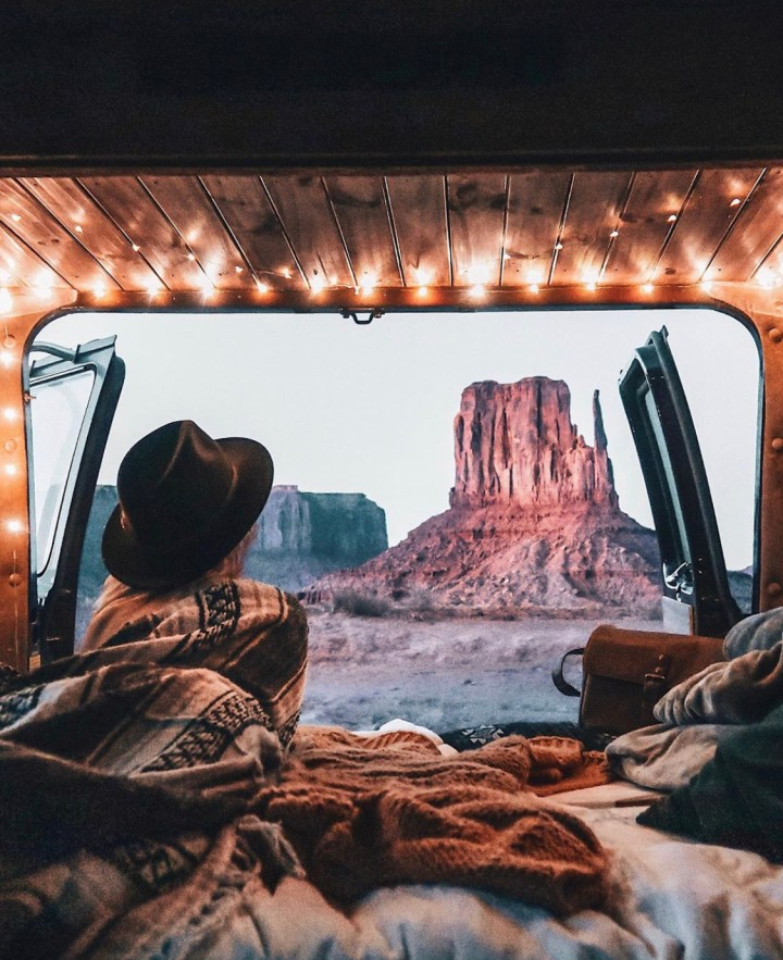 monument valley camping in self built rv