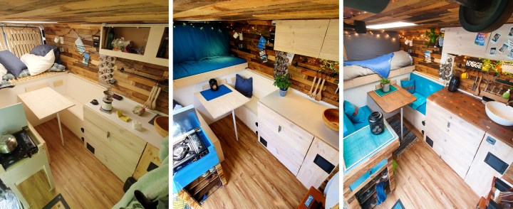 different building stages motorhome campervan