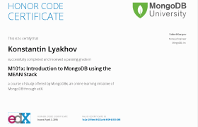 M101x: Introduction to MongoDB using the MEAN Stack