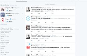 Сайт на Вордпрессе в Твитере