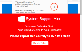 Windows Defender Alert