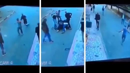 طريقة تدخل شرطي لاعتقال مجرم يحمل سيفين تثير إعجاب المغاربة (+فيديو)