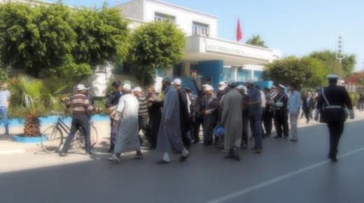 تدخل أمني لفض اعتصام أمام مفوضية الشرطية بمدينة الناظور