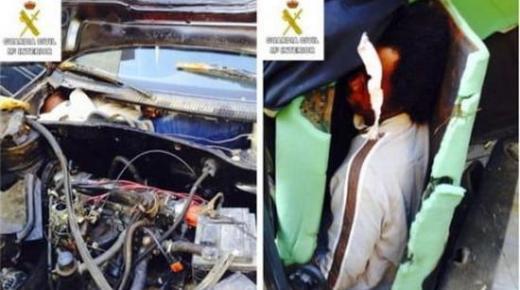 اعتقال ناظوري حاول تهريب 3 مهاجرين أفارقة عبر سيارته إلى مليلية