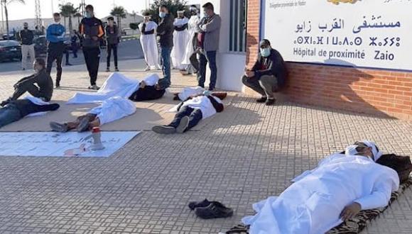زايو: اعتصام بالأكفان أمام مستشفى القرب إحتجاجا على استمرار إغلاقه