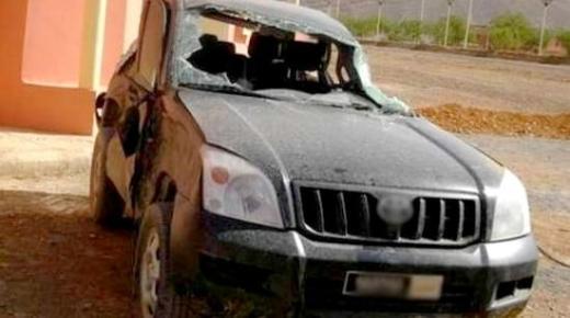 اصابة قائد قيادة بني عمارت بالحسيمة اثر انقلاب سيارته