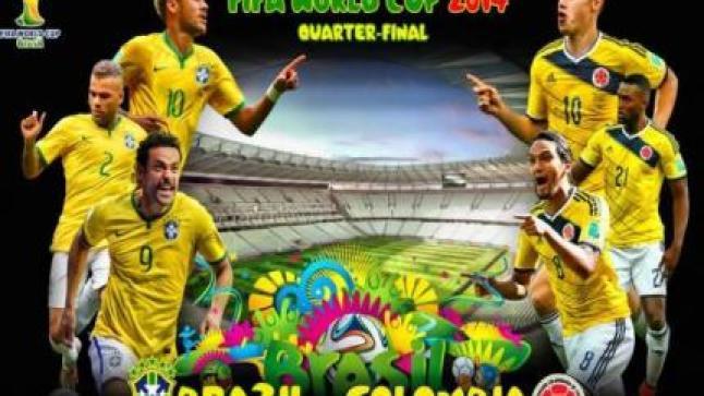 برنامج دوري الربع والنصف نهائي في كأس العالم 2014