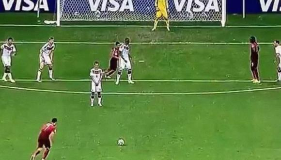 بالفيديو.. رونالدو يضيع ضربة حرة بطريقة عجيبة أمام ألمانيا