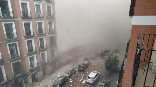 بالفيديو: انفجار عنيف يهز وسط العاصمة الإسبانية مدريد (+صـور)