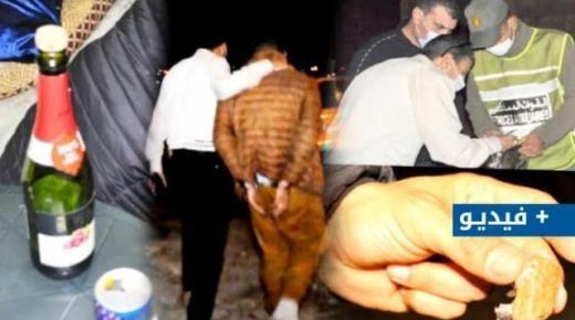 ليلة ساخنة بأزغنغان.. اعتقالات ، حجز ممنوعات ، ومطاردة خارقي الحظر الليلي (فيديو وصور)