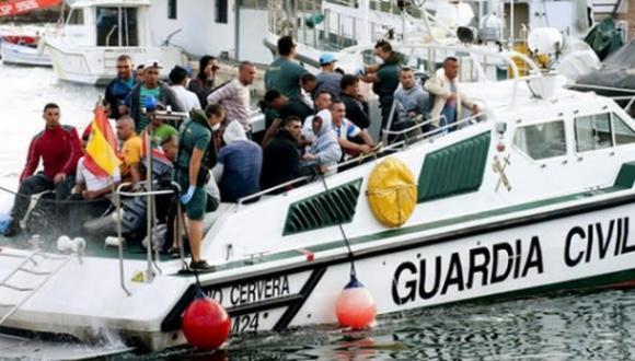 البحرية الاسبانية تنقذ 69 مهاجرا سريا ابحروا من الحسيمة في 3 قوارب