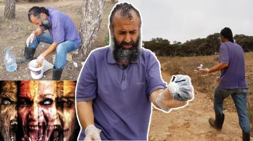 رشيد اليحياوي يعثر على سحر وشعوذة قرب منزله وهكذا تخلص منه (فيديو)
