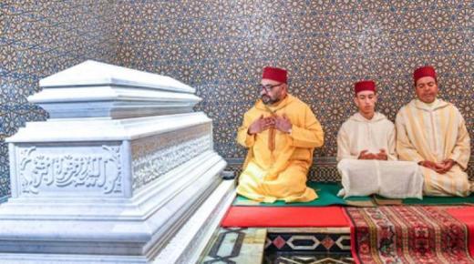 الملك يحيي ذكرى وفاة الحسن الثاني