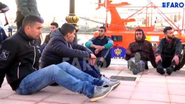 انقاذ 40 مهاجرا سريا مغربيا في عرض البحر المتوسط (فيديو)