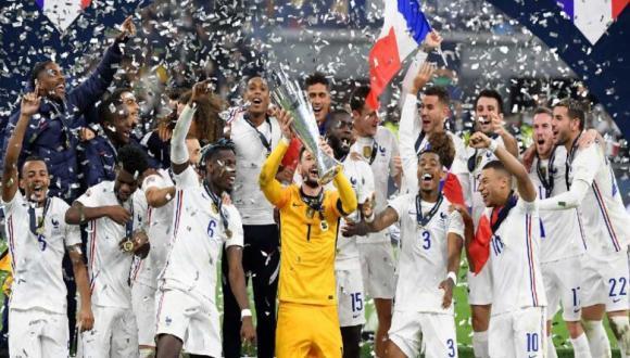 فرنسا تهزم إسبانيا وتتوج بلقب دوري الأمم الأوروبية