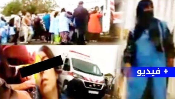 فيديو: اللحظات الأولى بعد إغماء عشرات العاملات خلال فاجعة الكرامة ببني انصار (+فيديو)