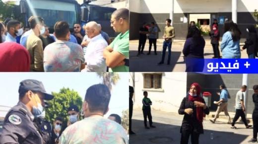عاجل: وقفة احتجاجية لطلبة بني انصار فرخانة و هذا رد المجلس