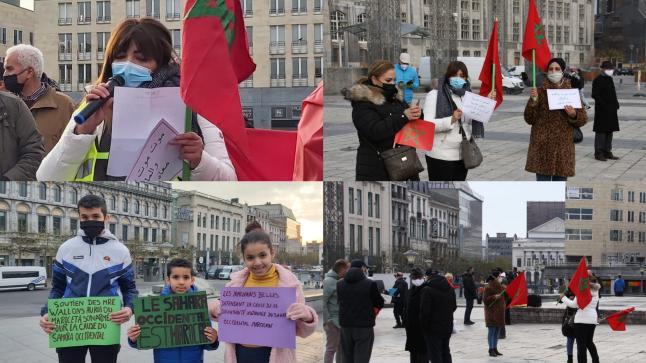 مغاربة بلجيكا ينظمون مظاهرة كبرى تأكيدا على مغربية الصحراء و تأييدا لتنظيف المملكة لمعبر الكركارات (+صور حصرية)