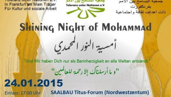 المانيا : إعلان عن تنظيم أمسية النور المحمدي بمدينة فرانكفروت