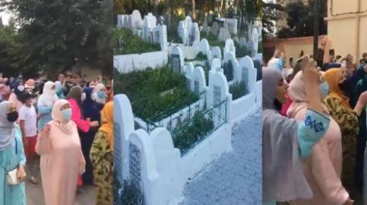 """دفن جثمان الطفل """"عدنان"""" في سرية تامة ومواطنون يخرجون للشارع ويرفعون شعار """"الشعب يريد تطبيق الاعدام"""""""