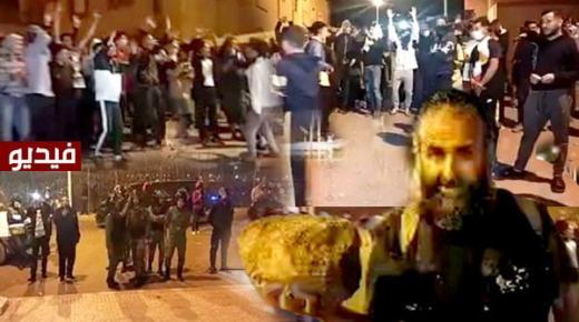 """احتجاجات ليلية ومواجهات بالحجارة بين العشرات من الشباب وقوات الأمن قرب معبر """"باريوتشينو"""" مع مليلية (فيديو)"""