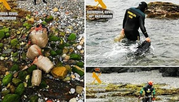 مهربو المخدرات يفتحون معابر تحت الماء لتهريب الحشيش – صور