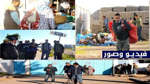 """السلطة المحلية والشرطة الإدارية بالناظور تُعيد بعض ما صادرته لـ""""الفراشة"""" خلال حملات تحرير الملك العام (+فيديو صور)"""