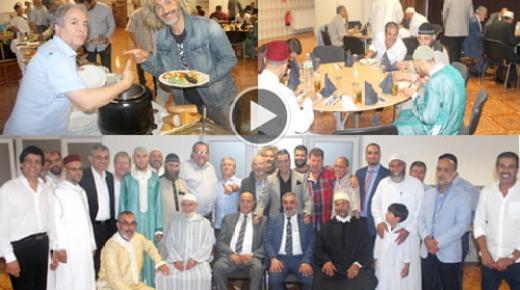 المانيا : عمدة مدينة اوفنباخ يشارك في افطار جماعي بمسجد الفتح (ربورطاج)