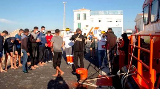 اسبانيا.. انقاذ 27 مهاجرا سريا ابحروا من سواحل الريف في 3 قوارب