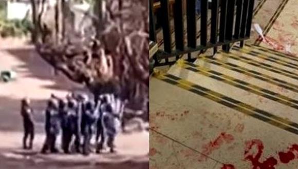 """معركة طاحنة بين """"حراڭة"""" بجزر الكناري والأمن يتدخل بالسلاح الناري (شاهد فيديو)"""