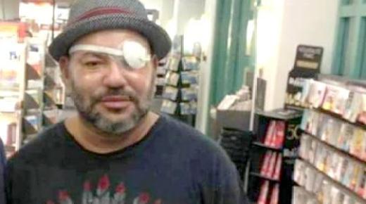 أول صورة للملك محمد السادس بعد خضوعه لعملية جراحية على عينه بباريس