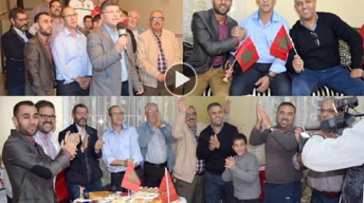 القناة الثانية 2M توثق لمشاهد فرحة عائلة الحارس منير المحمدي بتأهل المنتخب إلى كأس العالم من قلب منزلها ببني شيكر