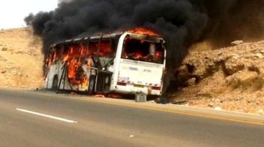 نجاة 40 طالبا كانوا على متن حافلة تقلهم من وجدة إلى الحسيمة